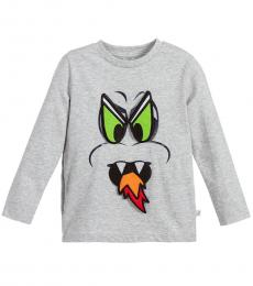 Little Boys Grey Patches T-Shirt