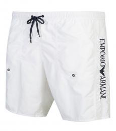 White Logo Swimming Trunk
