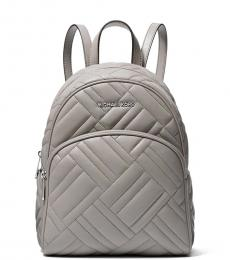 Michael Kors Pearl Grey Abbey Medium Backpack