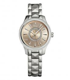Christian Dior Silver Sand Diamond Dial Watch