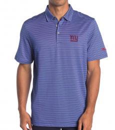 Blue-Patch Striped Polo