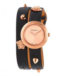 Versace Black Rose Gold Stud Icon Watch