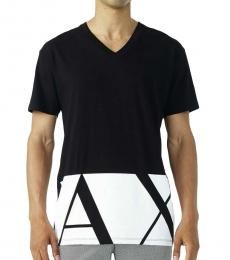 Armani Exchange Black Oversized Fit Logo T-Shirt