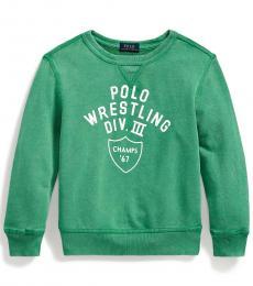 Ralph Lauren Little Boys Raft Green French Terry Sweatshirt