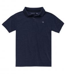 Boys Navy Blazer Pique Polo