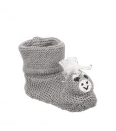 Stella McCartney Baby Girls Grey Donkey Knitted Booties