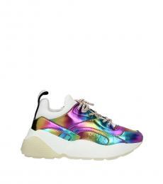 Multicolor Back Logo Sneakers