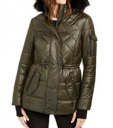 Michael Kors Olive Active Puffer Coat