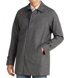 Michael Kors Charcoal Button Front Coat
