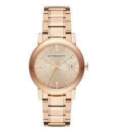 Burberry Rose Gold Logo Modish Watch