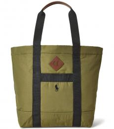 Ralph Lauren Olive Lightweight Mountain Large Tote