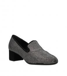 Giuseppe Zanotti Black Rhinestone Loafer Heels