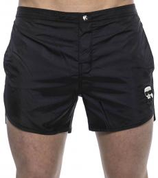 Karl Lagerfeld Black Logo Patch Swimshorts