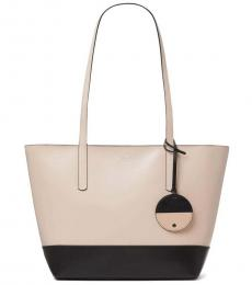 Kate Spade Beige/Black Briel Large Tote