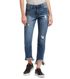 DKNY Holston Wash High-Rise Straight Ankle Jean