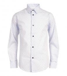 Calvin Klein Boys White Dot Shadow Printed Shirt