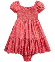 Ralph Lauren Baby Girls Nantucket Red Floral-Print Dress