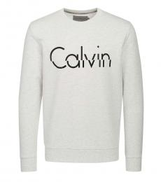 Calvin Klein Light Grey Front Logo Sweatshirt