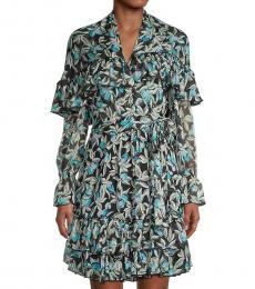 Diane Von Furstenberg Eden Black Polka Dot Silk Dress
