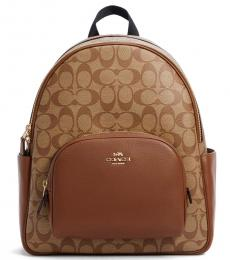 Coach Khaki Court Large Backpack