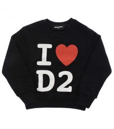 Dsquared2 Little Boys Black Crewneck Sweatshirt