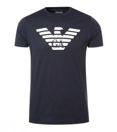 Emporio Armani Dark Blue Graphic Logo T-Shirt