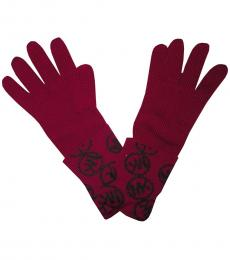 Michael Kors Pink Signature Logo Gloves