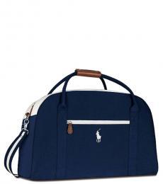 Ralph Lauren Navy Blue Weekender Large Duffle Bag