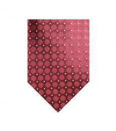 Calvin Klein Red Hexagon Slim Tie