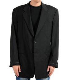 Armani Collezioni Black Casual Two Button Blazer