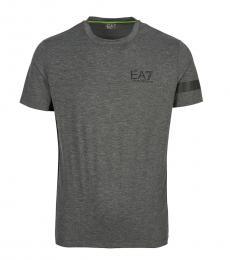 Emporio Armani Grey Graphic Logo T-Shirt