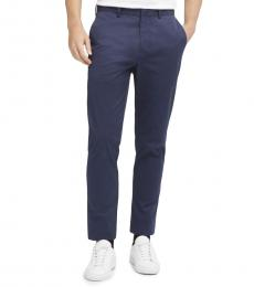 Navy SaT-Shirtn Flat Front Pants