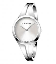 Silver Small Bangle Watch
