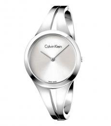 Calvin Klein Silver Small Bangle Watch