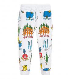 Stella McCartney Boys White Graphc Joggers