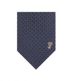 Versace Navy Royal Printed Tie