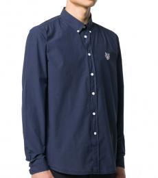 Blue Tiger Button Down Shirt