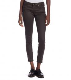 AG Adriano Goldschmied Dark Brown Legging Ankle Jeans
