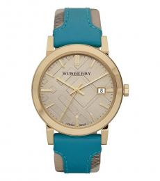 Burberry Turquoise Haymarket Watch