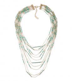Ralph Lauren Gold Multi Color Statement Necklace