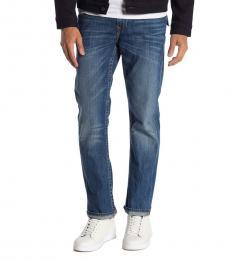 True Religion Blue Flap Straight Leg Jeans