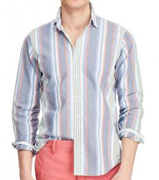Blue Stripe Striped Oxford Shirt
