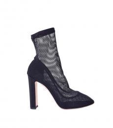 Black Net Lace Boots