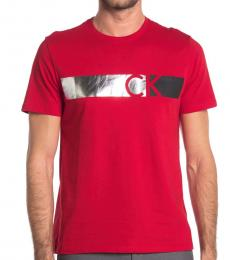 Calvin Klein Cherry Silver Graphic T-Shirt