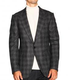 Ermenegildo Zegna Dark Grey Single-Breasted Jacket