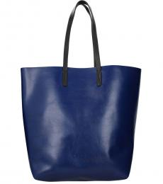 Marni Blue Solid Tall Large Tote