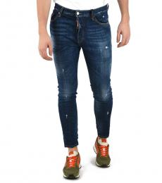 Dsquared2 Blue Stone Washed Jeans