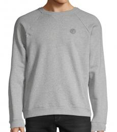 Grey Logo Pullover Sweater