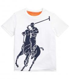 Ralph Lauren Little Boys White Big Pony Performance T-Shirt