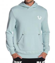 True Religion Aqua Tie Tye Zip Up Hoodie